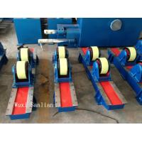 Wired Bolt Adjustment Pipe Welding Turning Rolls , 10000kg Tank Rotator 50HZ 3PH