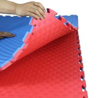 Wholesale 100% EVA High Density Taekwondo mat 1*1m with 25mm Red and Blue reversible mat from china suppliers