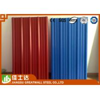 Wholesale Red Blue Color Coated Roofing Sheets Crest Tile 0.3-1.2mmX600-1250mm from china suppliers