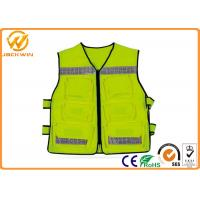 Wholesale Construction Reflective Work Vests , Velcro Highway Safety Vest with Pockets from china suppliers