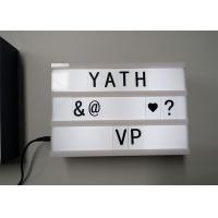 Wholesale LED Slim Cinematic Light Box With Letters , PVC Shell Lovely Little Light Box from china suppliers