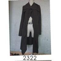 Wholesale Black Wool / Acylic Womens Knitted Long Cardigan With Nice Design For Autumn from china suppliers