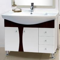Wholesale sanitary ware bamboo bathroom vanity mirror cabinet basin bath shower basin from china suppliers