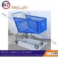 Wholesale 200 Liters Heavy Duty Plastic Shopping Carts , 4 Wheel Shopping Trolley from china suppliers