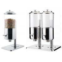 Wholesale Dry Food Catering Buffet Equipment , Single And Double Stainless Steel Cereal Dispenser from china suppliers
