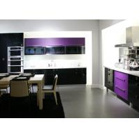 Wholesale Purple Themofoil Door Kitchen Cabinets , Modern Built In Kitchen Cupboards from china suppliers