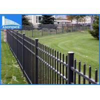 Quality Flat Top Steel Panel Fence Rust Proof , High Security Wire Garden Fencing for sale