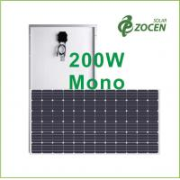 Quality 200 Watt Anti - Aging EVA Monocrystalline Solar Panels For Rooftop / Camping for sale