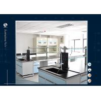 Wholesale Iron Metal Type Chemistry Lab Furniture , Light Blue Commercial Chemistry Lab Table from china suppliers