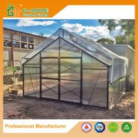 Wholesale 406x406x273cm Black Color 10MM Polycarbonate + Box Profile Hobby Growhouse from china suppliers