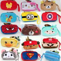 Wholesale Fashion Cartoon Characters Red and Blue Plush Pencil Pouch Pencil Case For Promotion Gifts from china suppliers