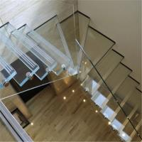 Wholesale Prefabricated Indoor Laminated Glass Staircase Indoor Floating Staircase from china suppliers