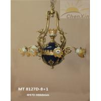 Wholesale High End Chandelier Pendant Lights 5 Stars Hotel Yellow Branched Lighting Fixture With Enamel from china suppliers