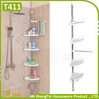 Wholesale Household Supplier Multi Layer Save Space Stainless Steel Bathroom Telescopic Corner Shelf from china suppliers