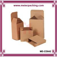 Buy cheap Custom small brown kraft paper packaging empty box ME-CD042 from wholesalers