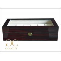 Wholesale Burl Wooden Watch Display Box / 12 Vintage Watches Storage Case 400 x 250 x 130 mm from china suppliers