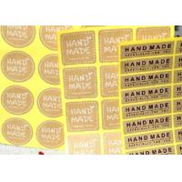 Quality Food Packaging Personalized Sticker Labels Different Color Craft Paper for sale