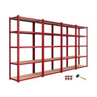 Wholesale European style 5 tier garage shelving unit boltless shelving from china suppliers