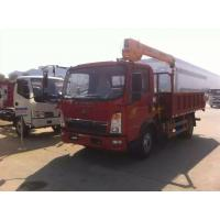 Wholesale 2017s bottom price SINO TRUK HOWO RHD 2.5tons truck with crane for sale, factory sale HOWO 4*2 RHD 2.5tons trck crane from china suppliers