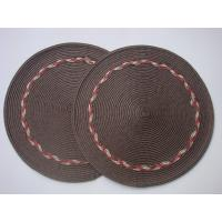 Wholesale Crochet  round placemat, 38cm  table mat; from china suppliers