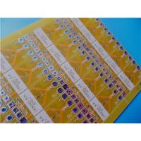 Buy cheap Yellow PCB on 1.6mm FR-4 Double Sided Copper with HASL Pb Free from wholesalers