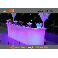 Wholesale Outdoor / Indoor Glowing LED bar counter , illuminated Bar Furniture from china suppliers