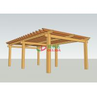 Wholesale Prefab Wood Plastic Composite Pergola  No Painting Antisepsis 8.3m X 5m For Garden from china suppliers