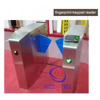 Wholesale Passage optical Flap Barrier Gate , bi directional Bus half height turnstile sound Alarm from china suppliers