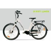 Wholesale Mid Motor Ladies 28 mph Electric Bike 36V 350W White 700C Shimano Roller Brake from china suppliers