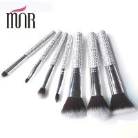 Wholesale Bling Bling Travel Makeup Brushes , Rhinestone 7 Pcs Face Makeup Brush Set from china suppliers