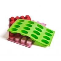 Wholesale 16 cups oval shaped silicone cake mould chocolate mould from china suppliers