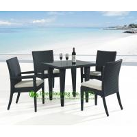 Wholesale Outdoor PE Rattan Chairs and Rattan Dining Table For Sale, Durable and Eco-friendly from china suppliers