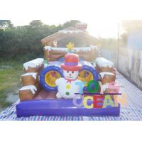 Wholesale 0.55mm PVC 12 * 4 * 5 Snowman Obstacle Course Inflatable Rentals For Kids from china suppliers