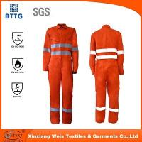 Quality YSETEX EN certificated orange fire retardant reflective coverall for sale
