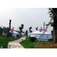 Luxury White Traditional Mongolian Yurt Tent Aluminum And Bamboo Structural