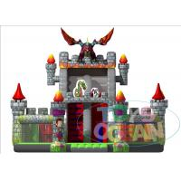 Wholesale Giant Inflatable Playground Slide Dragon Moster Castle Playground With Slide For Rental from china suppliers