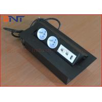 Wholesale EU Standard Desktop Power Plug Black Color With USB Network Outlet from china suppliers
