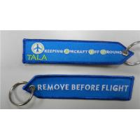 Remove Before Flight Keeping Aircraft Off Around Tala Embroidery Keychain