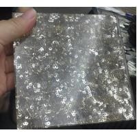 Wholesale Golden Frosted Fabric Laminated Glass 10 - 13mm For Glass Partition from china suppliers