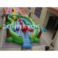 Wholesale Giant commercial Inflatable Fun City Jungle , cartoon inflatable play park For Kids from china suppliers