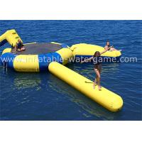 Wholesale Commercial Inflatable Water Toys , Rave Sports Aqua Jump With Trampoline / Log Blob from china suppliers