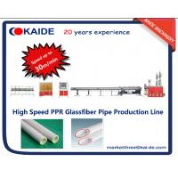 Buy cheap PPR Glassfiber Pipe  Production Machine high Speed 30m/min from wholesalers