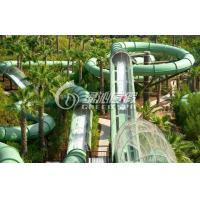 Wholesale Holiday Resort Fiberglass Slide Water Park / Water Roller Coaster for Summer Entertainment 21m from china suppliers