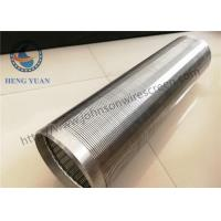 Wholesale Length 5.8M Stainless Steel Vee Well Casing Pipe Wire Welded Well Pump Screen from china suppliers
