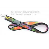 Wholesale SBR neoprene rubber lanyards wholesale, full colour print neoprene id  ribbons, from china suppliers