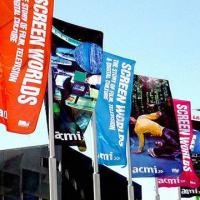 Wholesale Street Banner Flag with Digital Printing, Measures 100 x 300cm from china suppliers