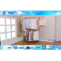 Wholesale Home Telescopic Metal Clothes Drying Rack Double-deck with Heavy Duty Hanging Pole from china suppliers