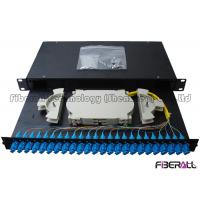 Wholesale Sliding Drawer Fiber Optic Patch Panel With Angled SC Simplex Adapter Port 24 Cores from china suppliers
