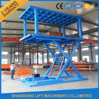 Wholesale Stacker Car Parking Systemwith Anti Skid Checkered Plate Double Platform from china suppliers