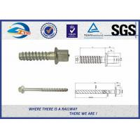 Quality Railway Track Sleeper Screw Spike with Slotting Head plain black galvanized for sale